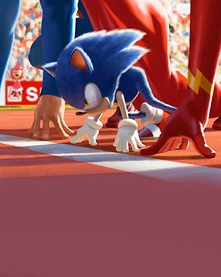 """Sonic the Hedgehog is about to take on Superman and The Flash in a race in this incredibly awesome illustration created byMauricio Abril. This piece of fan art is called """"The Underdog"""""""