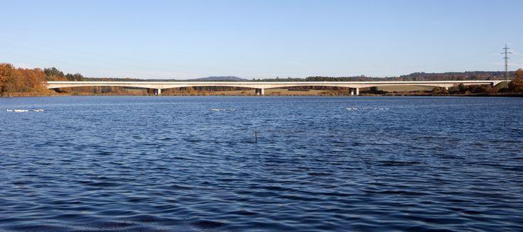 Bridge over the pond Koberný, D3 highway, the Czech Republic