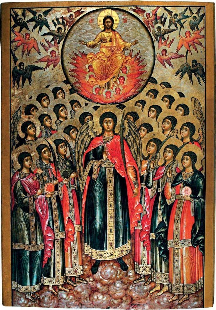 Christ and the orders of angels