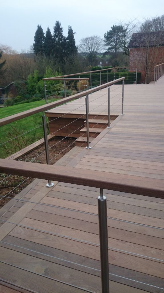 Ipe hidden fixed hardwood deck & handrail