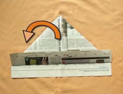 uitleg om een hoedje van papier te maken