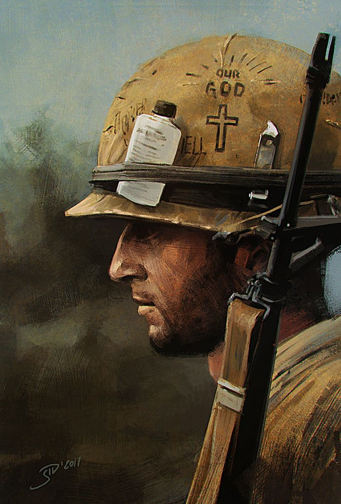 ArtStation - Soldier profile. Practice shot., Vitalii Smyk