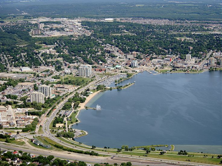 Aerial View of Downtown, Barrie, Ontario