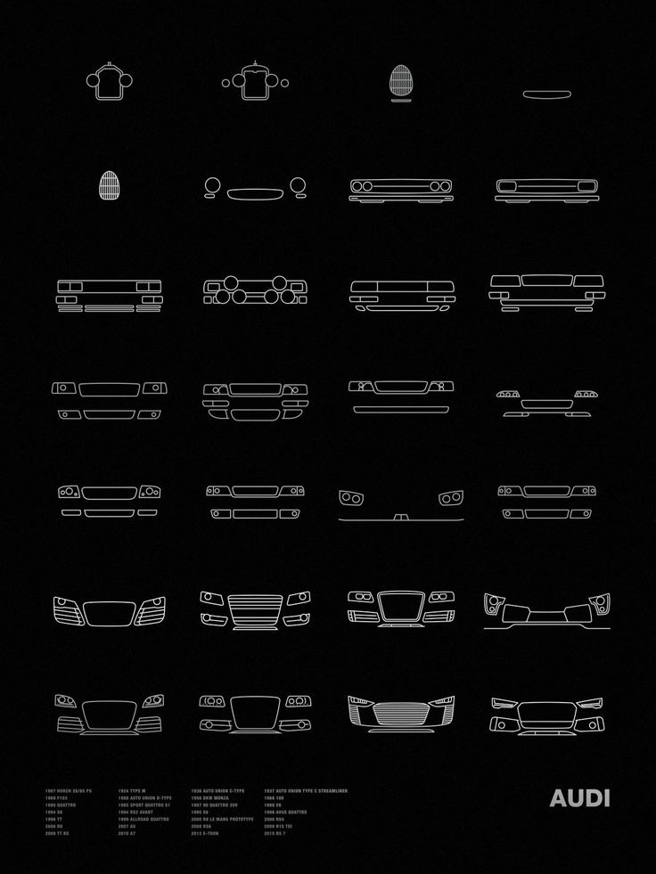 Auto Icon Screen Print Series: Audi