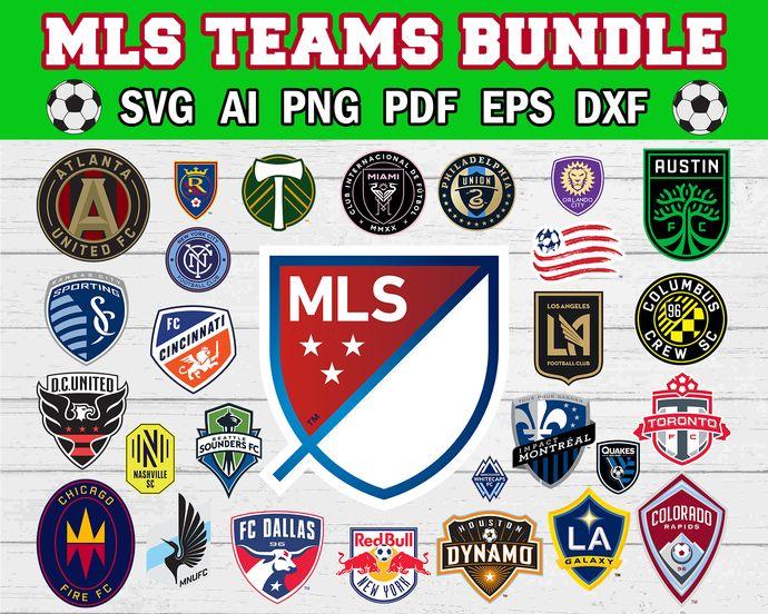 MLS logo svg, MLS logo bundle, Soccer svg, all team MLS ...