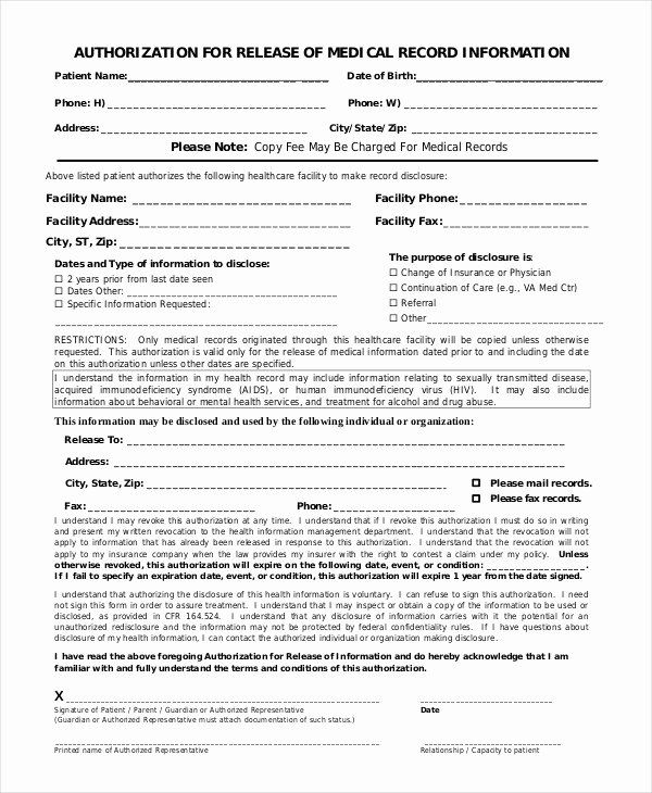 Free Printable Medical Release Form Awesome 10 Printable Medical