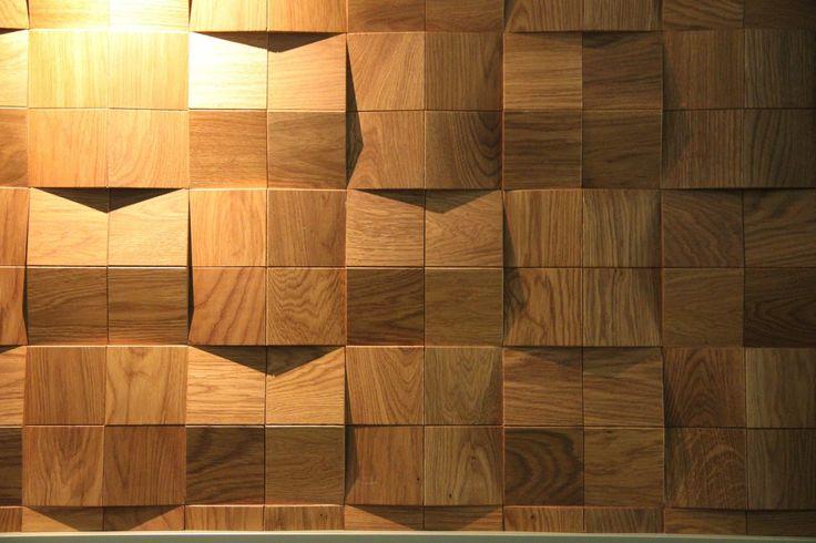 Мозаика и 3D панели из дерева Esse 1005 Квадраты сборные рыжие, купить | Esse