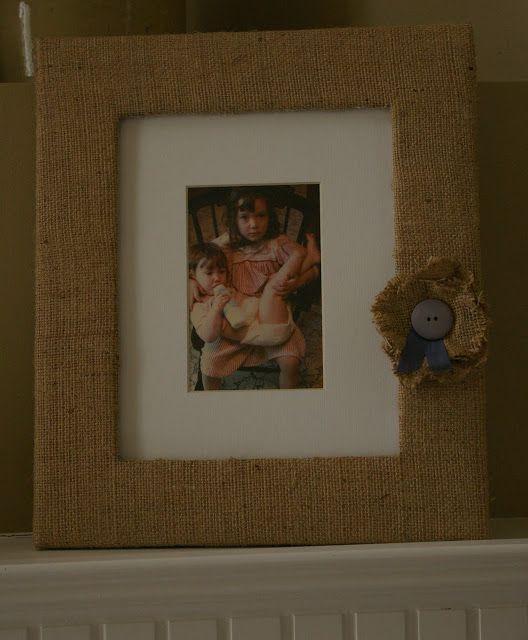 burlap picture frames | Burlap Picture Frame