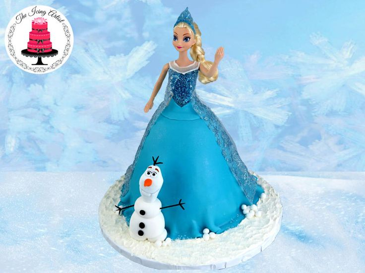 Frozen Princess Elsa Dress Cake With Olaf! - Cake by The Icing Artist