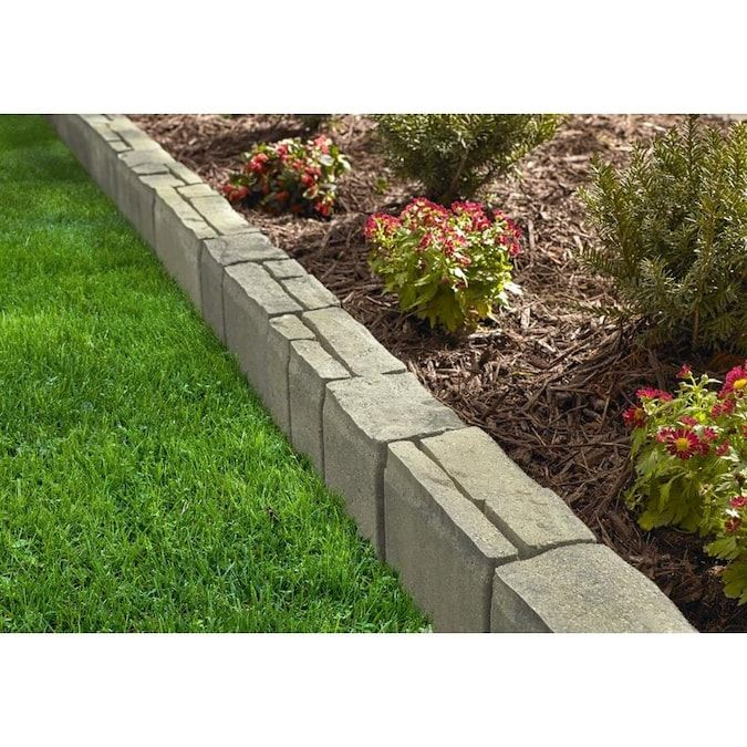 Oldcastle Townsend Tan Charcoal Retaining Wall Block Common 4 In X 16 In Actual 4 In X 16 In Lowes Com In 2020 Landscaping With Rocks Retaining Wall Block Retaining Wall
