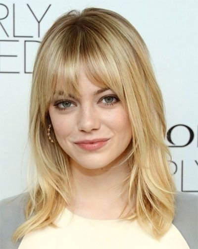 Shoulder Length Haircuts For Thick Wavy Hair Round Face : Best 25 round face bangs ideas on pinterest short hair with