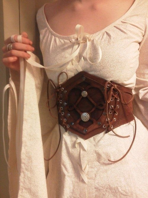 Or maybe just something as simple as this.   Leather Cincher (I found the source. It's linked now.)