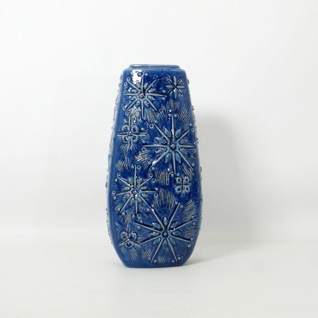 """wazon podłogowy / Scheurich 'KOSMOS' / Niemcy / lata 60.   floor vase / Scheurich """"KOSMOS"""" / Germany / 60s.   buy on Patyna.pl   #forsale #vintage #vintagefinds #vintageshop #vintagelove #retro #old #design #home #midcenturymodern #want #amazing #home #inspiration #kitchen #decoration #furniture #vase #big #German #porcelain #ceramics #blue #Scheurich #keramik #KOSMOS #space #60s #1960s #tala"""