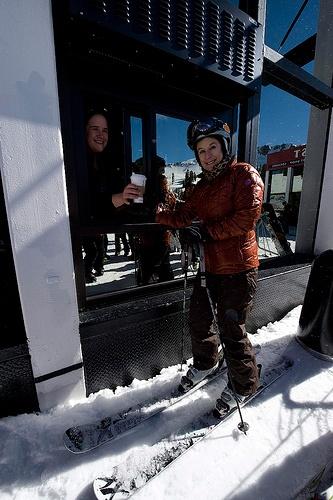 Starbucks open first ski-thru location; just glide, order and enjoy