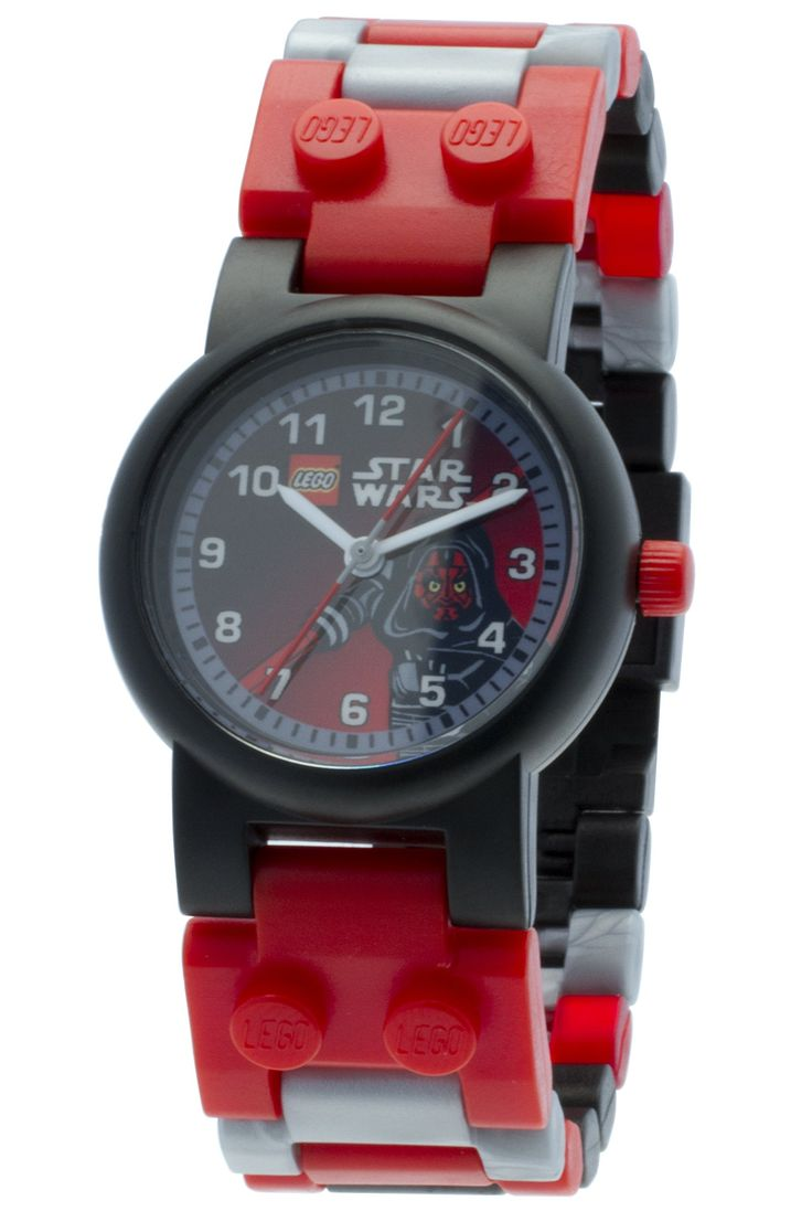 LEGO Kids' 9002953 Star Wars Darth Maul Watch with Link Bracelet and Minifigure. Small pieces/not suitable for kids under 3 yrs old. 35-pc set including Darth Maul Minifig. Designed for ages 6+.