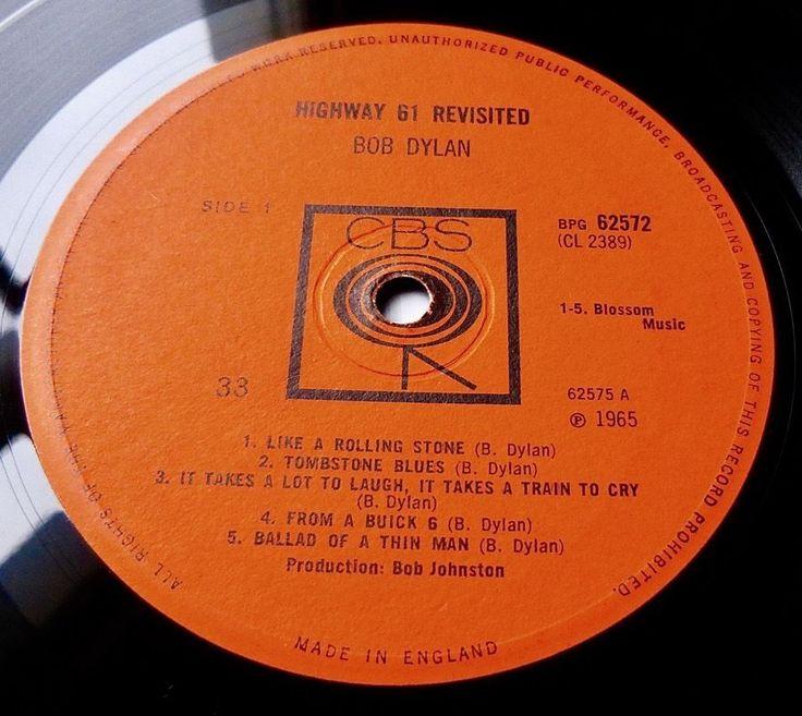 BOB DYLAN Highway 61 Revisited 1965 UK CBS 1st *MONO* - EXCELLENT