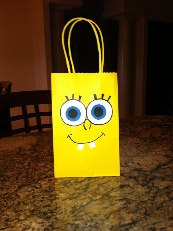 Spongebob birthday party favor bag