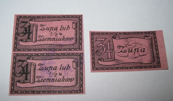 Poland Germany Russia Warsaw Ration Stamp Cinderella stamp 1910-1921 4r3 - product images