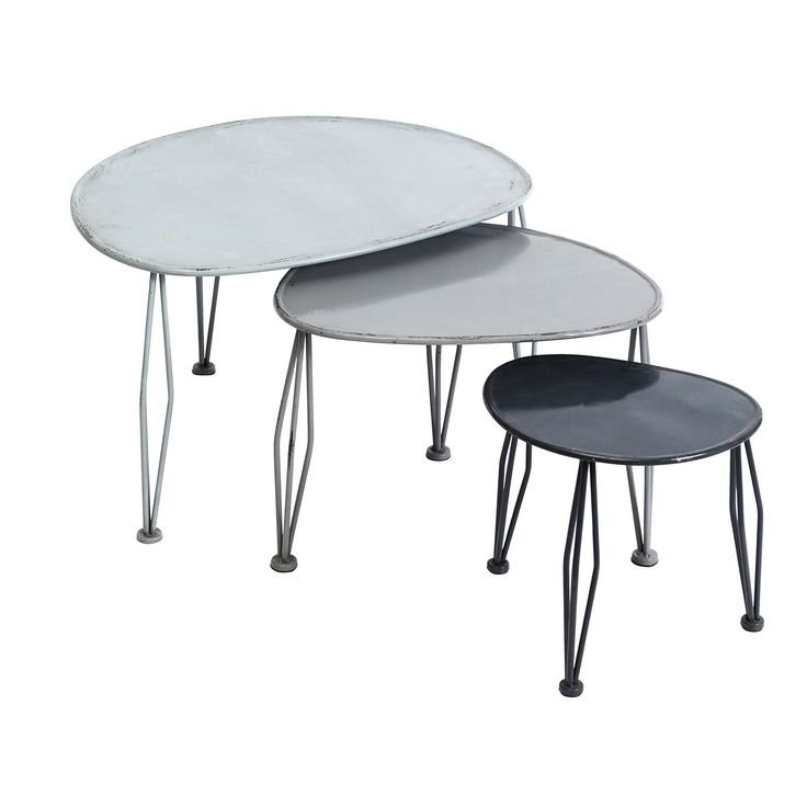 Metal Nesting Tables By Nordal In Grey. So Nice, Iu0027d Like Them