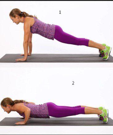 Push ups-12 mejores ejercicios para deshacerse de la grasa de espalda en el hogar