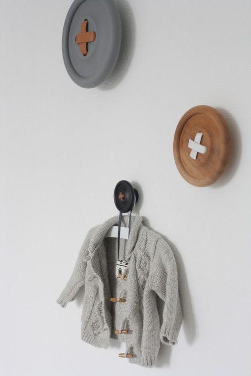 Button wall hooks