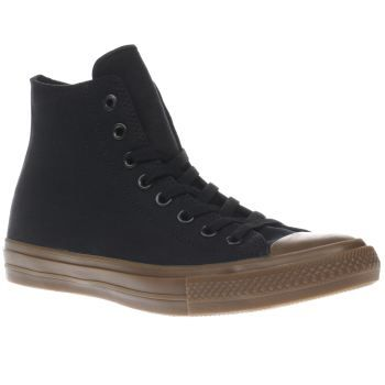 Converse Black Chuck Taylor Ii Hi Mens Trainers Classic Converse styling meets modern design, as the Chuck Taylor II Hi arrives. Crafted in premium Tencel black canvas, the upper and tongue is padded to hold its shape more, with micro-suede lining  http://www.MightGet.com/january-2017-13/converse-black-chuck-taylor-ii-hi-mens-trainers.asp