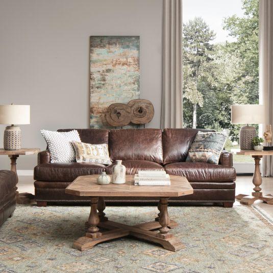 Top Grain Leather Living Room Set   Jerome's Furniture