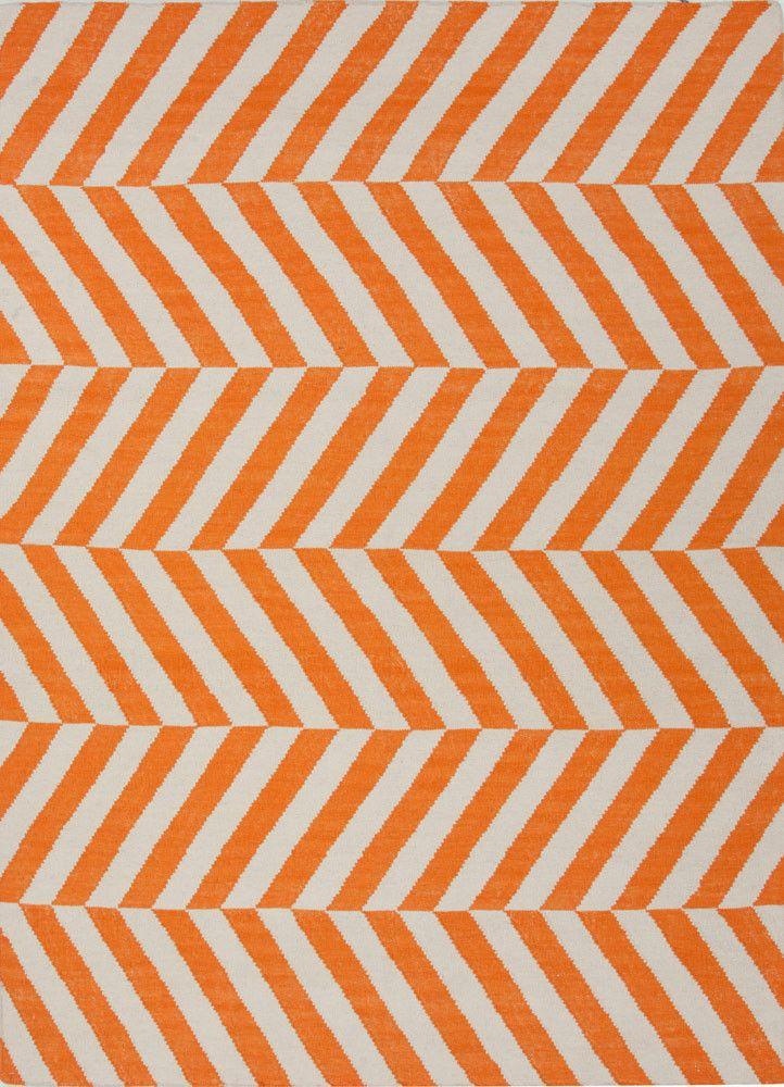 Maroc Salma Orange/White Area Rug