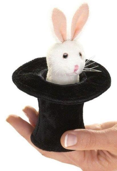 Folkmanis Finger Puppet!  Cutest little bunny in a hat!