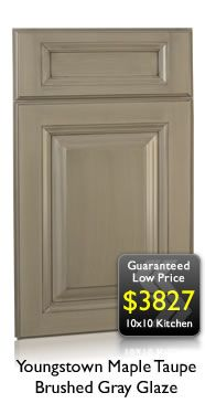 taupe kitchen cabinets | ... Taupe Brushed Gray Glaze Kitchen Cabinets | Discount Kitchen Cabinets