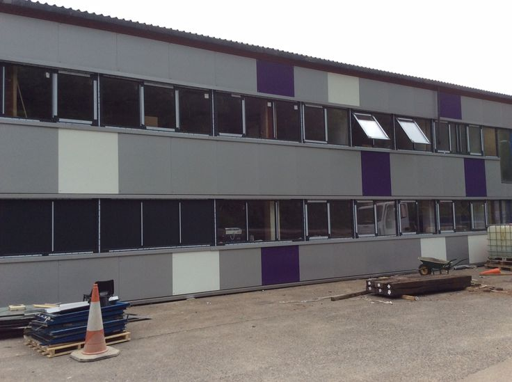 Capital Coated #Steel Headquarters Refurbishment Project. HPT #External panels in place and new windows fitted.