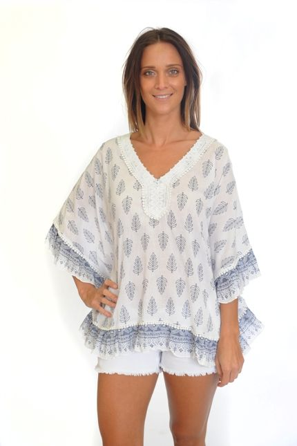 Holiday Wisdom top in Yacht Leaf $87.90
