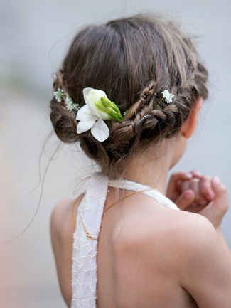 Time to focus on the mini members of your wedding party and check out these 14 adorable flower girl hairstyles.