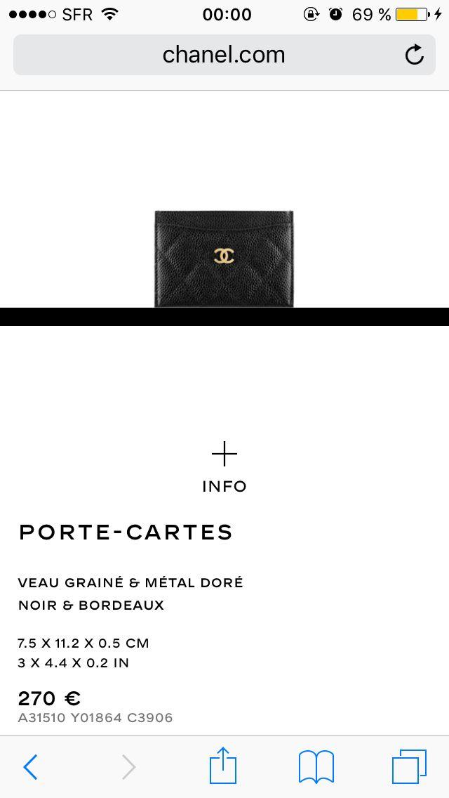 Chanel - Porte Cartes - 270.00€