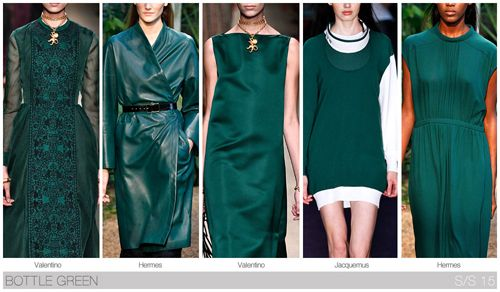Top Color, Womens Market, S/S 2015, BOTTLE GREEN: