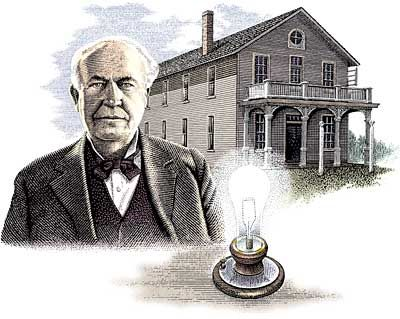 Thomas Edison. Inventor of the light bulb and electricity.