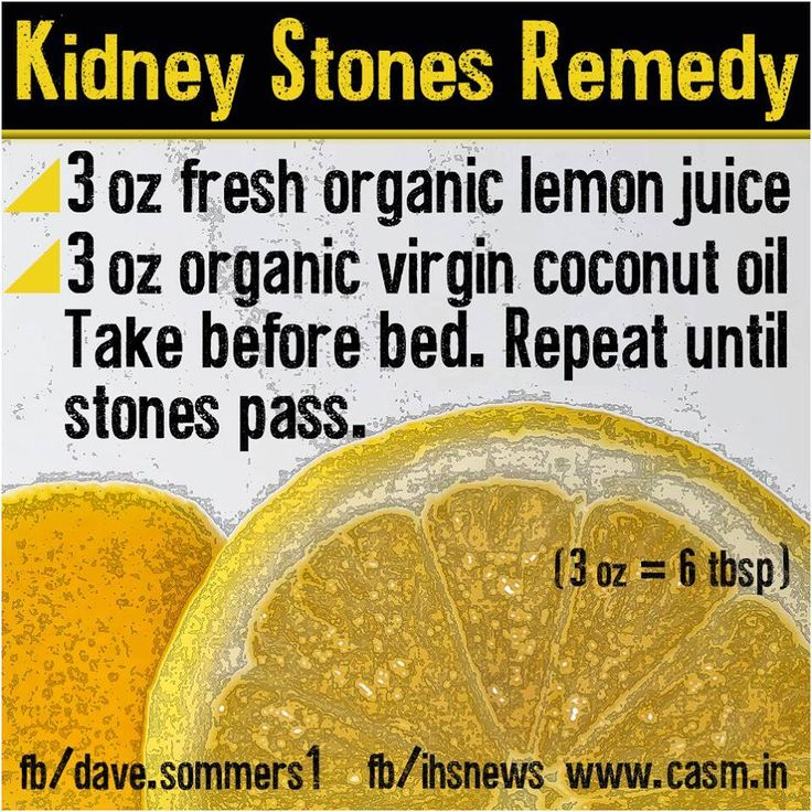 Got kidney or even gall stone problems? Here's a quick tip for y'all