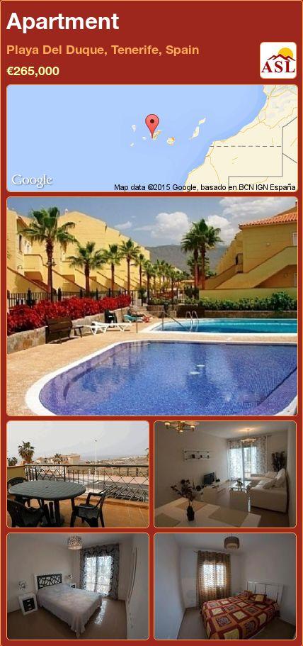 Apartment in Playa Del Duque, Tenerife, Spain ►€265,000 #PropertyForSaleInSpain