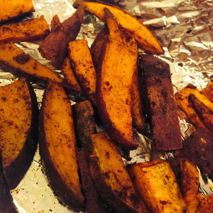 Spicy Cinnamon Sweet Potato Fries - sounds like an odd combo, but ...