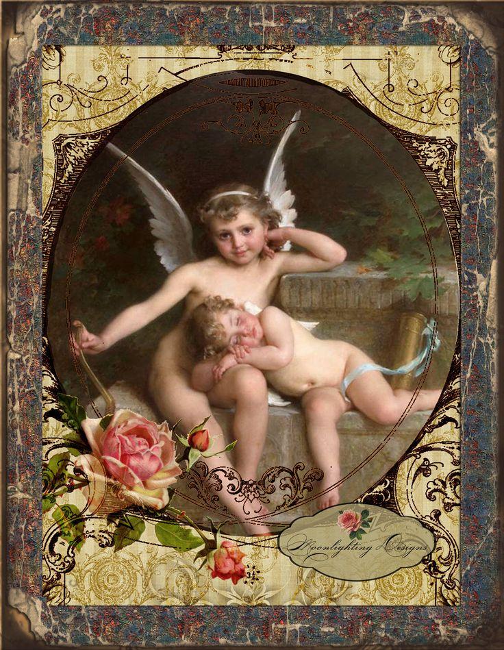 heavenly angels | HEAVENLY ANGELS - Printable Image Digital Collage Sheet jpg download ...