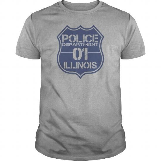 Make this awesome proud Police: Police Department 01 Badge Illinois Law Enforcement Tshirt as a great gift job jobtitle Shirts T-Shirts for Polices Policeman