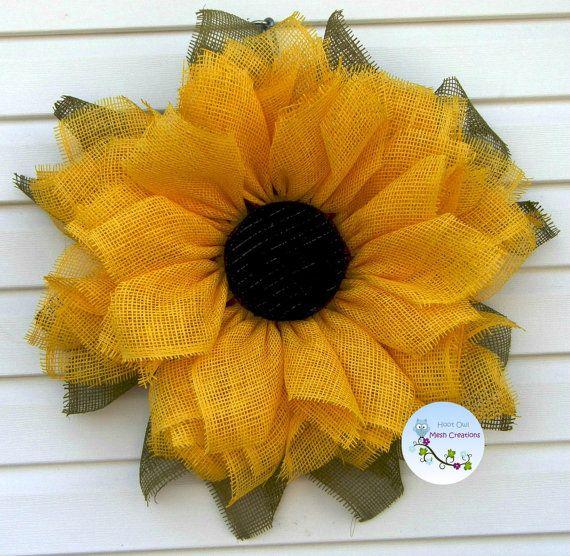 Sunflower Wreath Paper Mesh Fall Paper by HootOwlMeshCreations