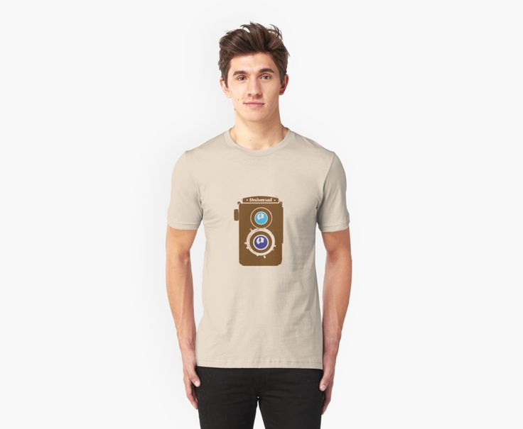 Vintage LOMO Twin Lens Reflex Camera illustration - brown by universalhuman
