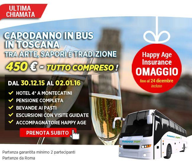 ULTIMA CHIAMATA!!! #Capodanno   in bus in #Toscana   ! Ultimissimi posti disponibili per brindare a #Montecatini   #Terme   ! Tutto incluso! https://www.happyageshop.com/Scheda-Tour.aspx?id=1698#.Vm_Mp0rhAdV