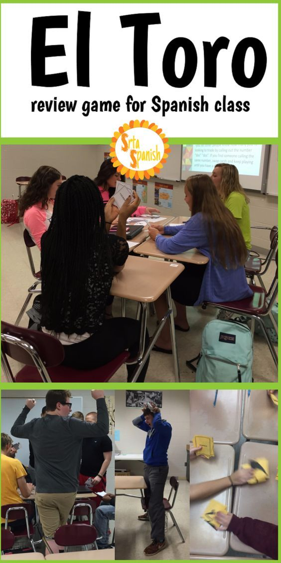 Check out this quick and easy review game for your Spanish classes! Everyone plays at once in El Toro!