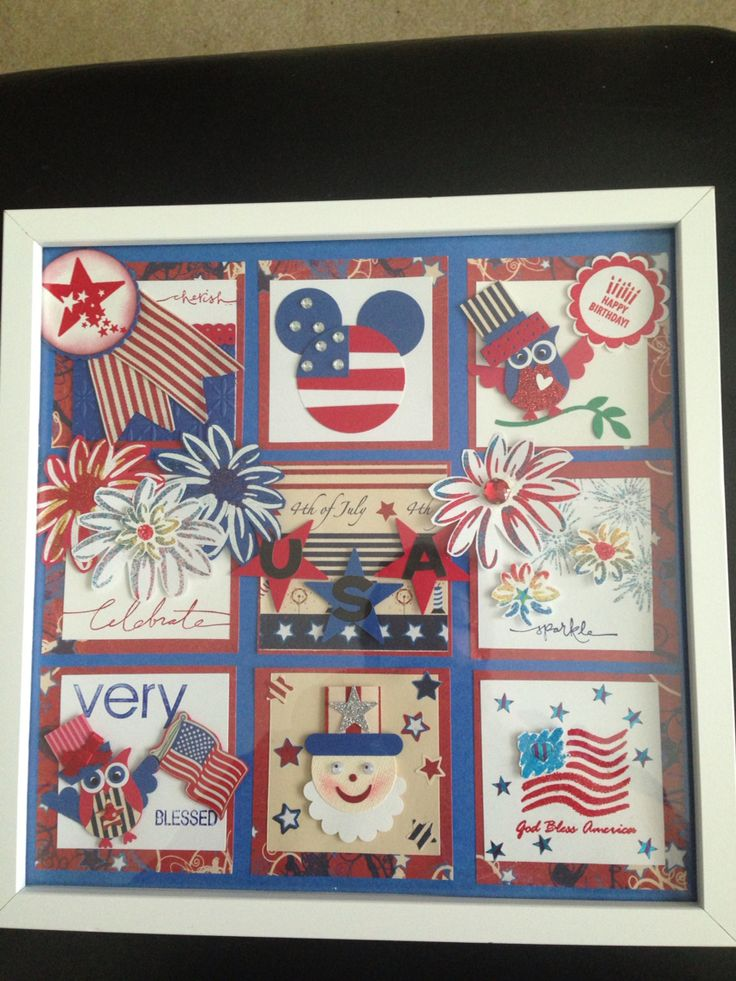 Collage 4th of July using mostly Stampin Up supplies.