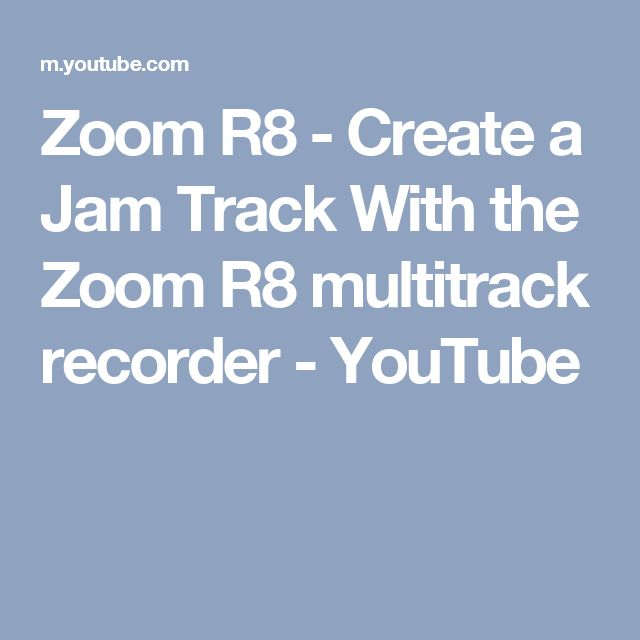 Zoom R8 - Create a Jam Track With the Zoom R8 multitrack recorder - YouTube