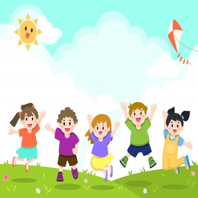 Border Design For Graduation Google Trsene Kids Playing Happy Kids Kids Vector