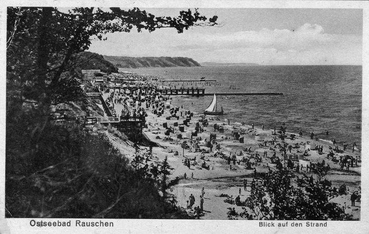 1257/ Foto AK Ostpreußen Ostseebad Rauschen Blick auf den Strand,1942