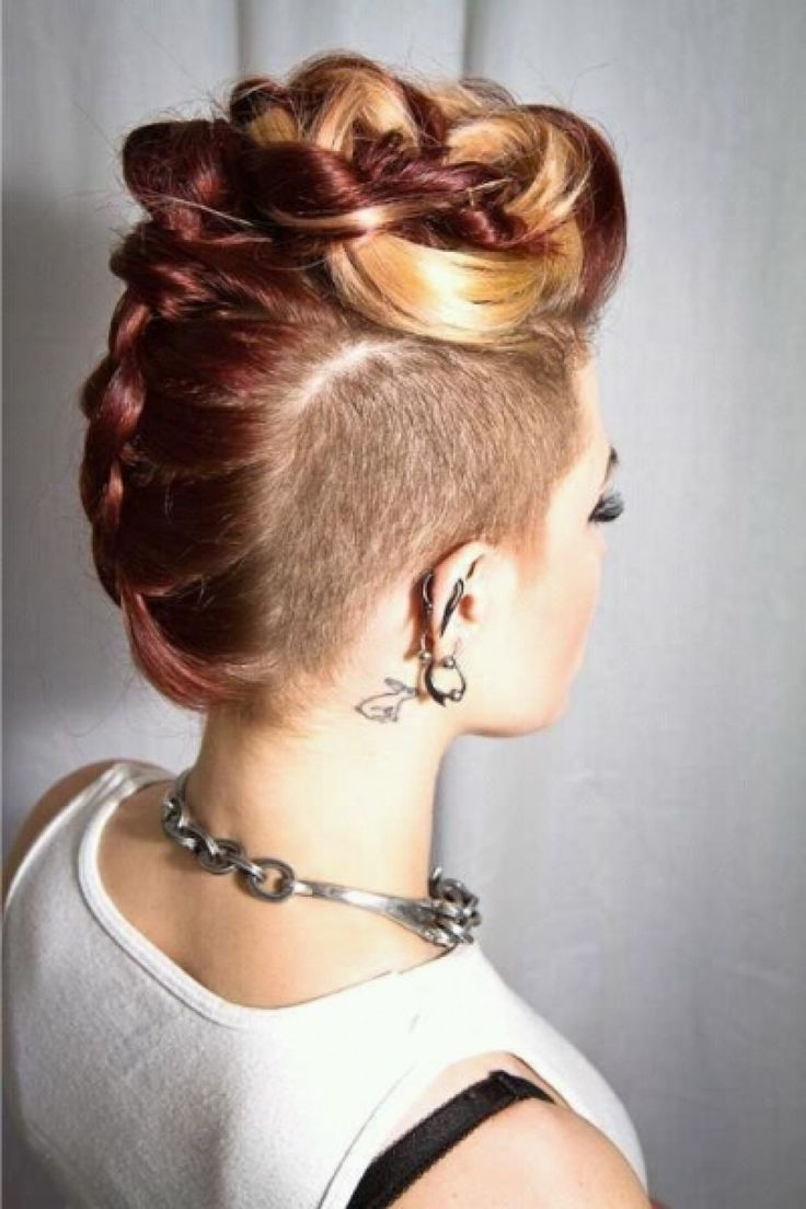 The Braided Mohawk - New Wedding Hairstyles – the Trendiest Looks for Brides - EverAfterGuide